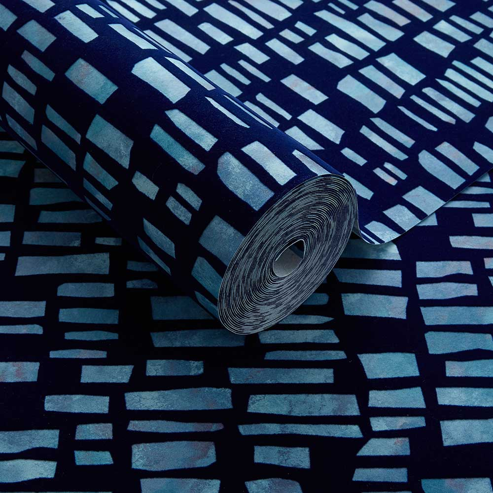 Fusion Wallpaper - Blue Dusk - by 1838 Wallcoverings