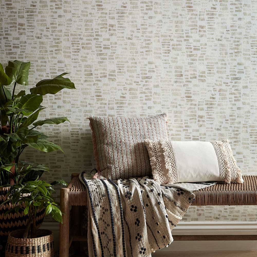 Fusion Wallpaper - Pearl - by 1838 Wallcoverings