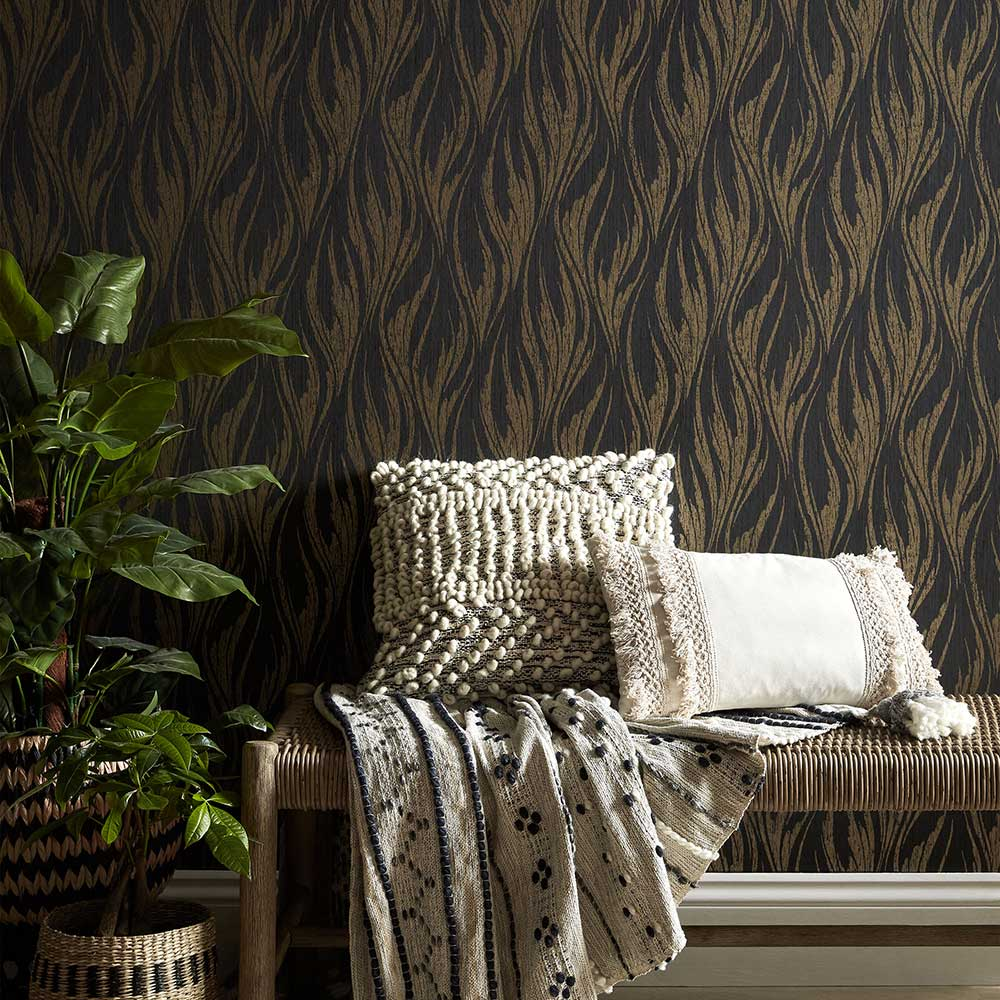 1838 Wallcoverings Ripple Bracken Wallpaper - Product code: 2008-146-01