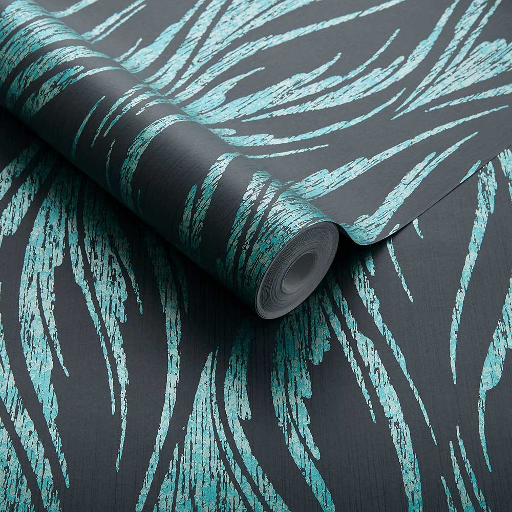 Ripple Wallpaper - Mineral - by 1838 Wallcoverings