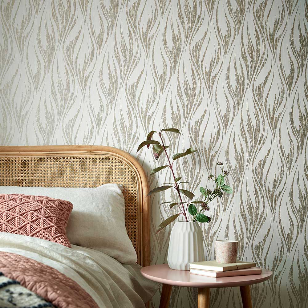 1838 Wallcoverings Ripple Shimmer Wallpaper - Product code: 2008-146-04