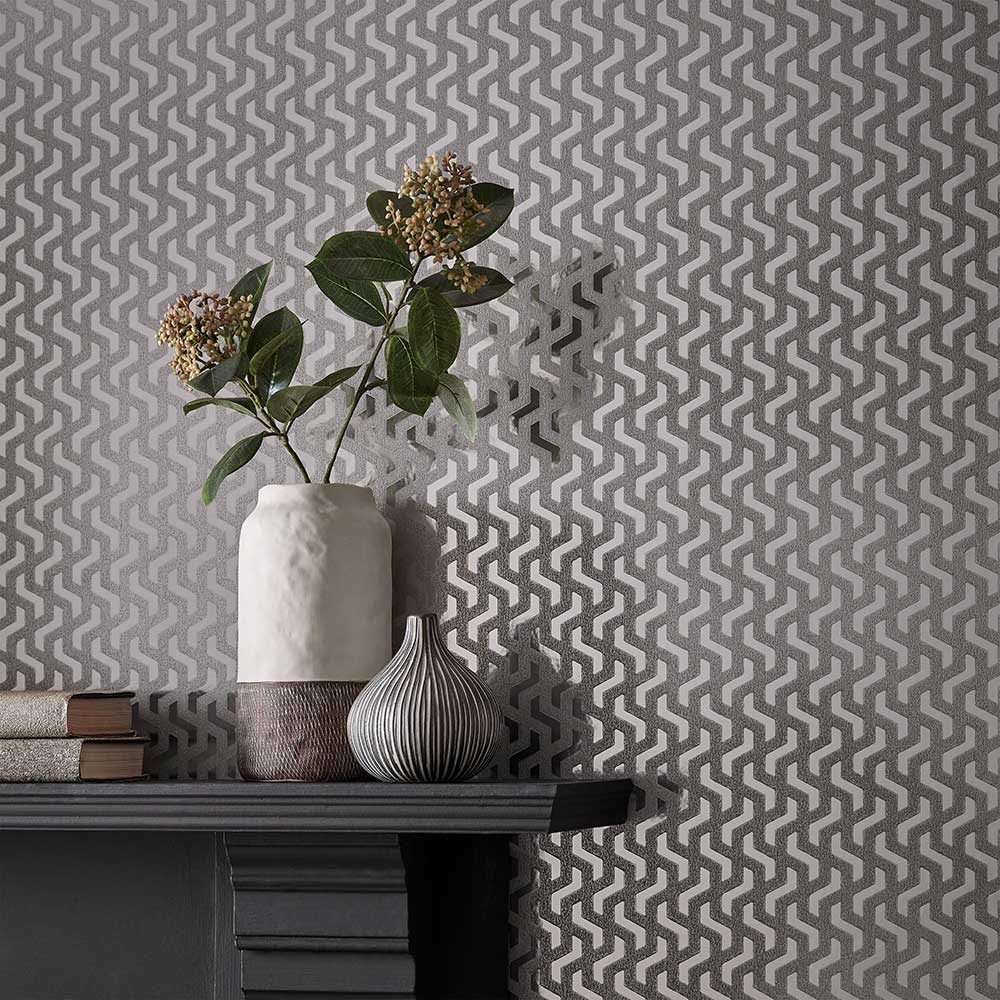 1838 Wallcoverings Rattan Chamomile Foil Wallpaper - Product code: 2008-147-05