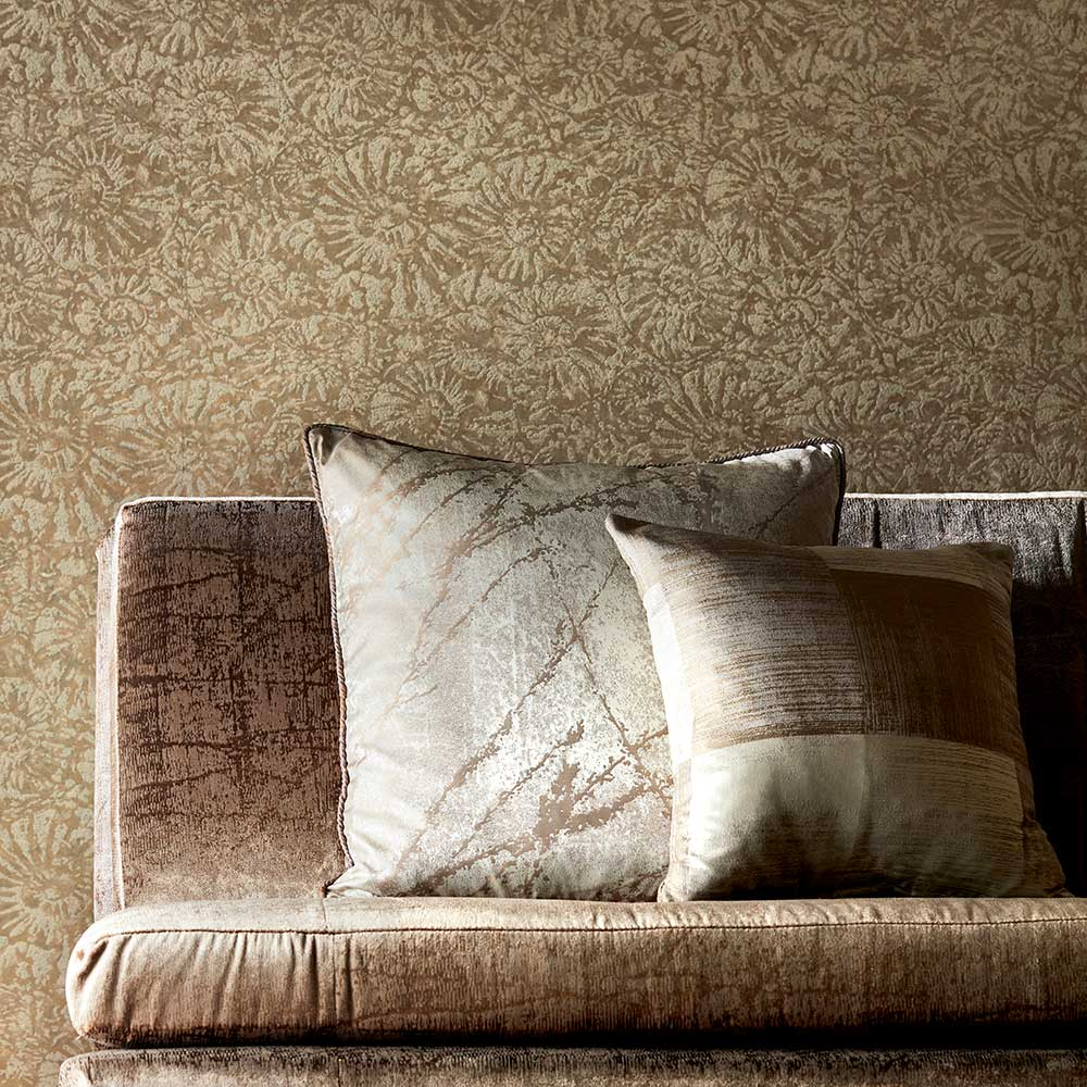 Ammonite Wallpaper - Sandstone - by Anthology