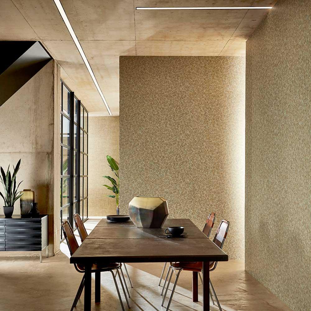 Kimberlite Wallpaper - Urban Gold - by Anthology
