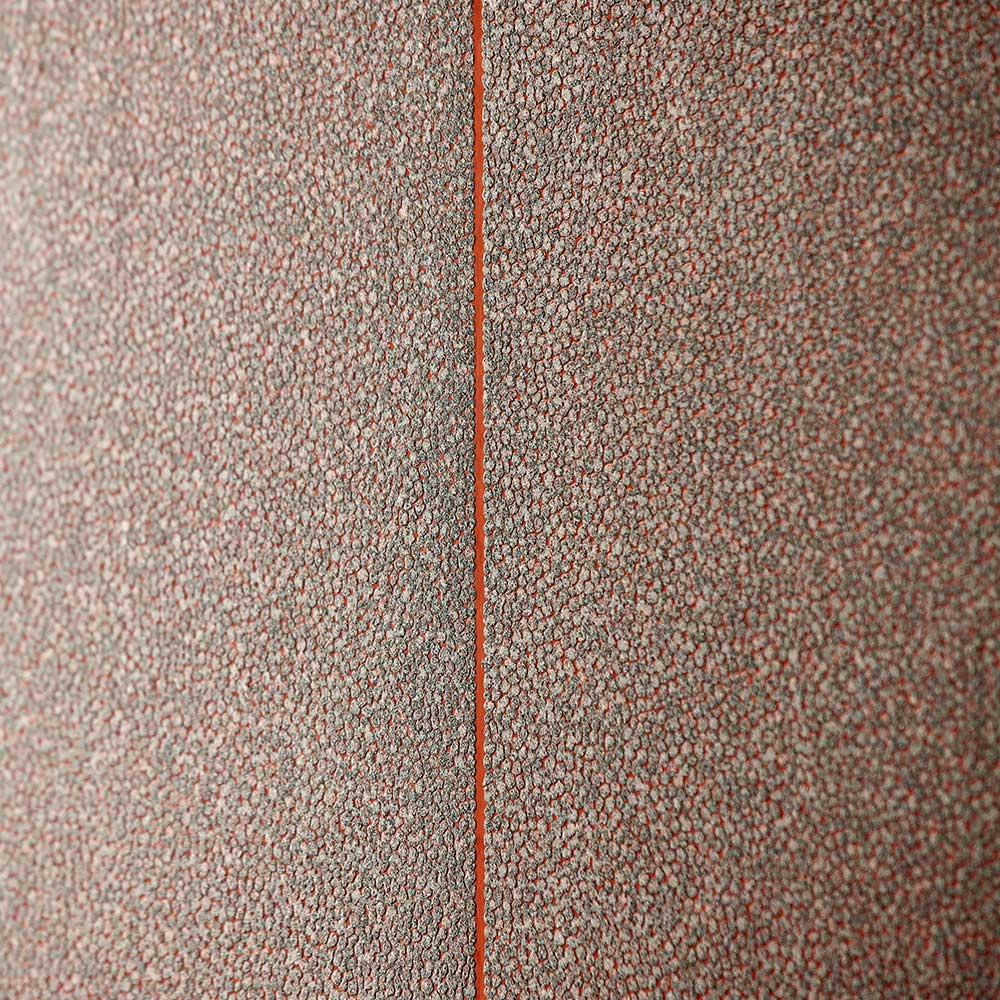 Brutalish Stripe Wallpaper - Copper / Slate - by Anthology
