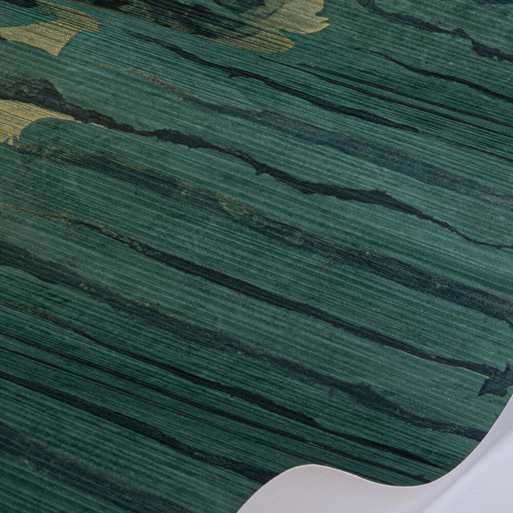 Ripple Stripe Wallpaper - Emerald / Kingfisher - by Anthology