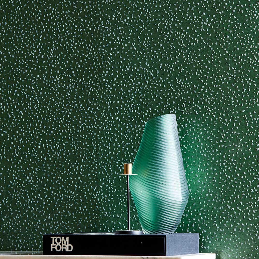 Foxy Wallpaper - Emerald - by Anthology
