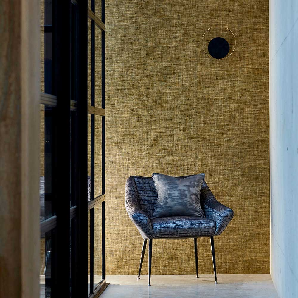 Seri Raphia Wallpaper - Urban Gold - by Anthology