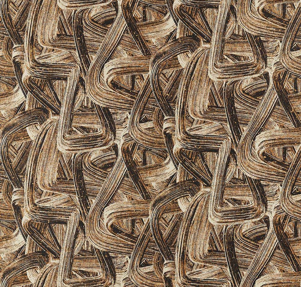 Seri Raphia Wallpaper - Charcoal / Natural - by Anthology