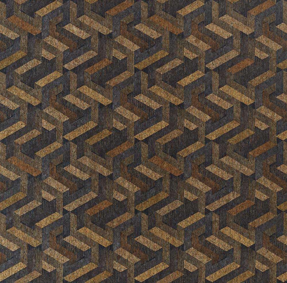 Anthology Escheresque Charcoal / Natural Wallpaper - Product code: 112582