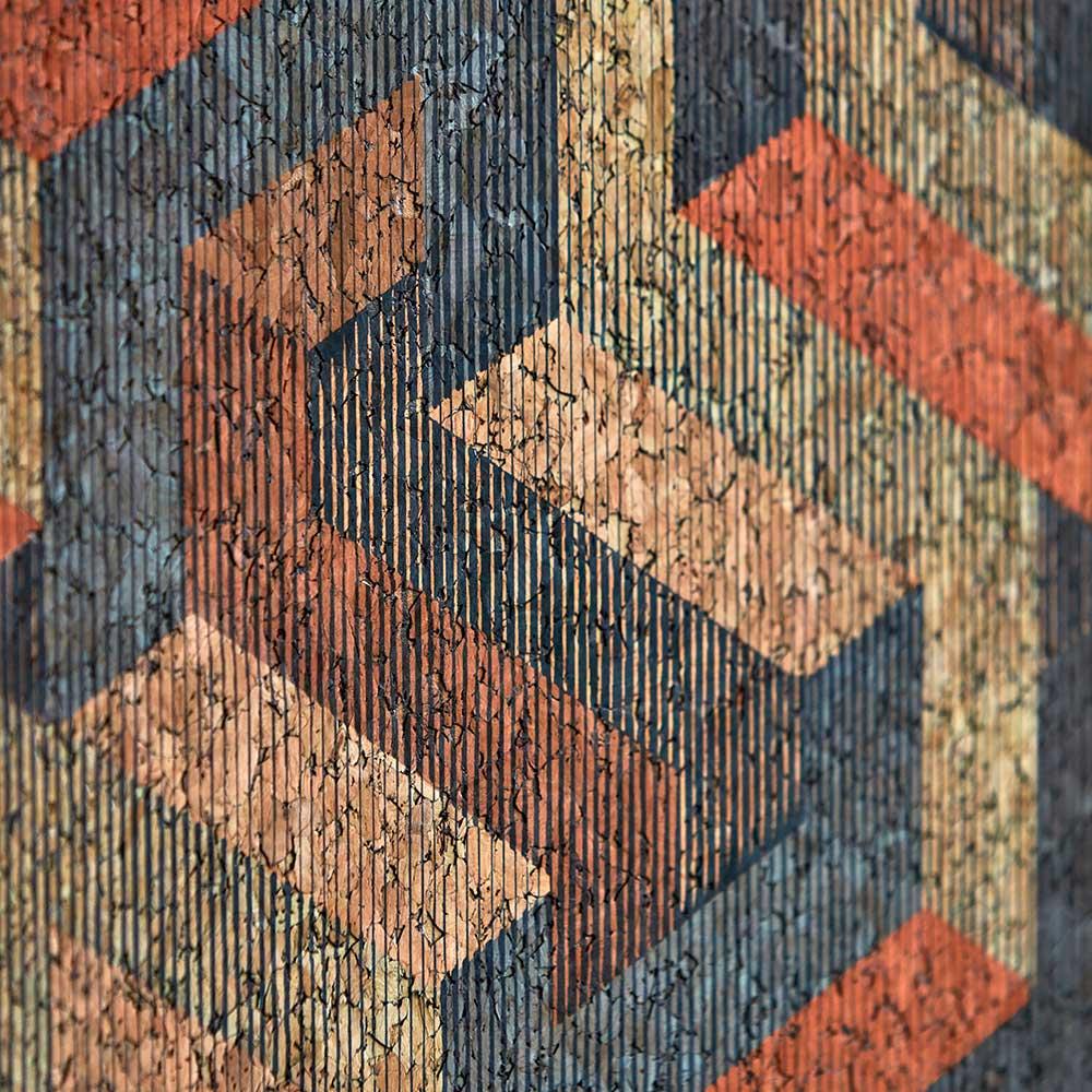 Escheresque Wallpaper - Copper / Slate - by Anthology