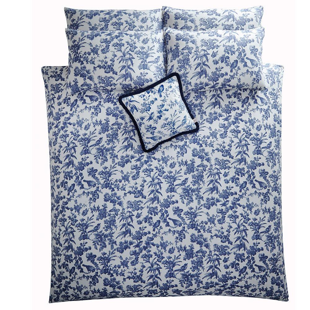 Amelia Duvet Set Duvet Cover - Blue - by Oasis