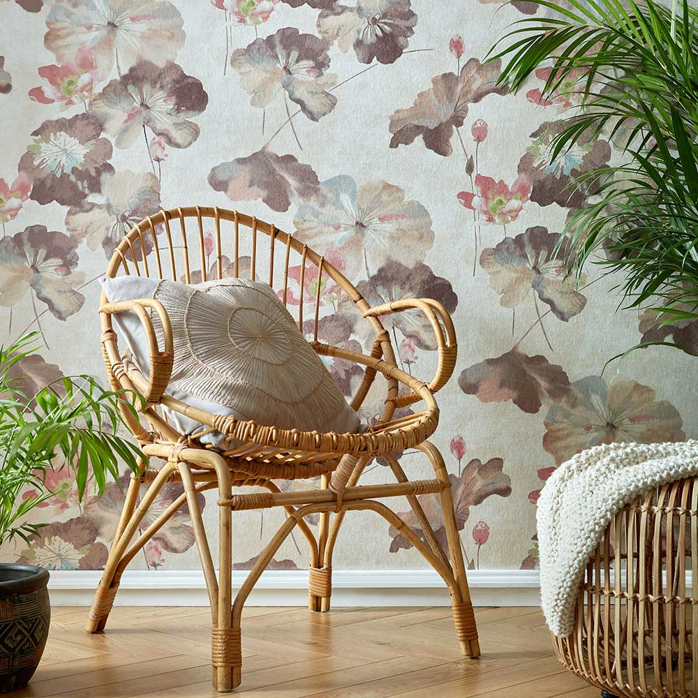 1838 Wallcoverings Water Lilies Caramel Wallpaper - Product code: 2008-143-04