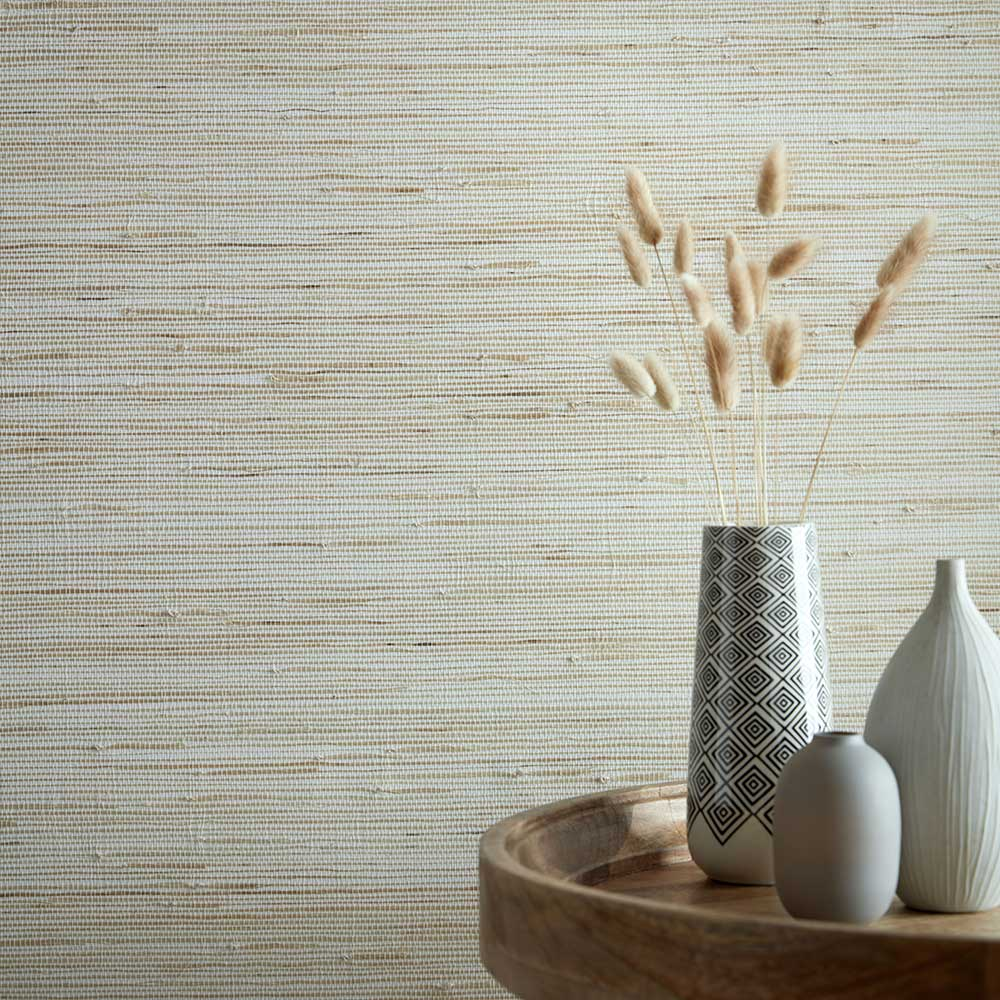 1838 Wallcoverings Grasscloth Natural Wallpaper - Product code: 2008-152-01