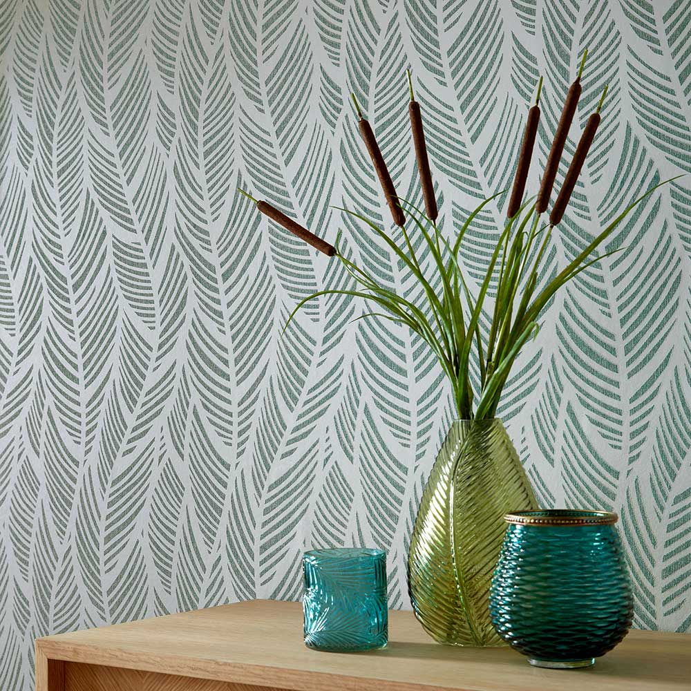Bramble Wallpaper - Mineral - by 1838 Wallcoverings