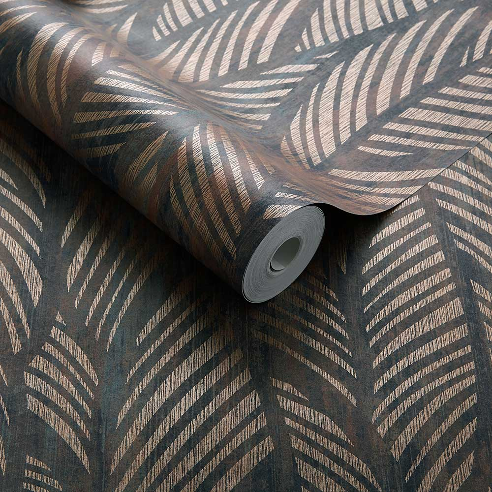 Bramble Wallpaper - Caramel - by 1838 Wallcoverings