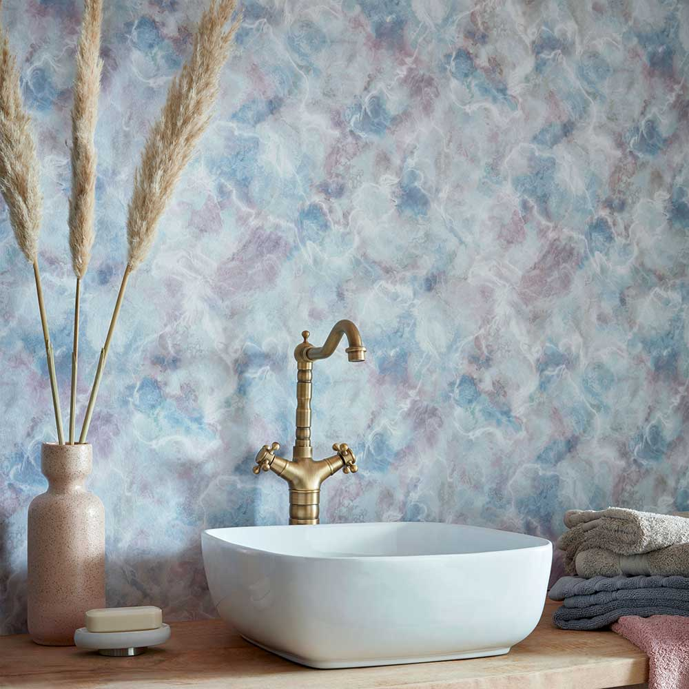 Quartz Wallpaper - Blue Dusk - by 1838 Wallcoverings