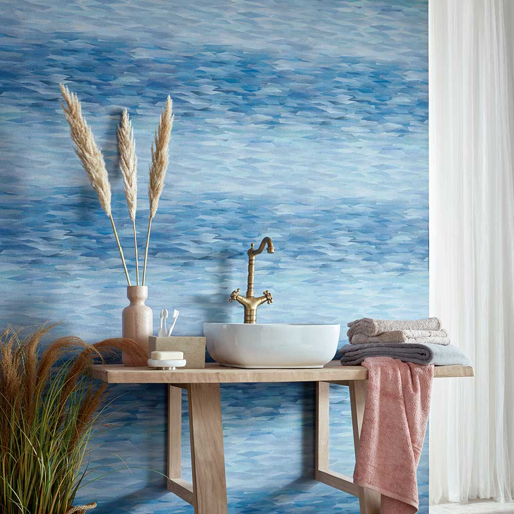 Prism Wallpaper - Blue Dusk - by 1838 Wallcoverings