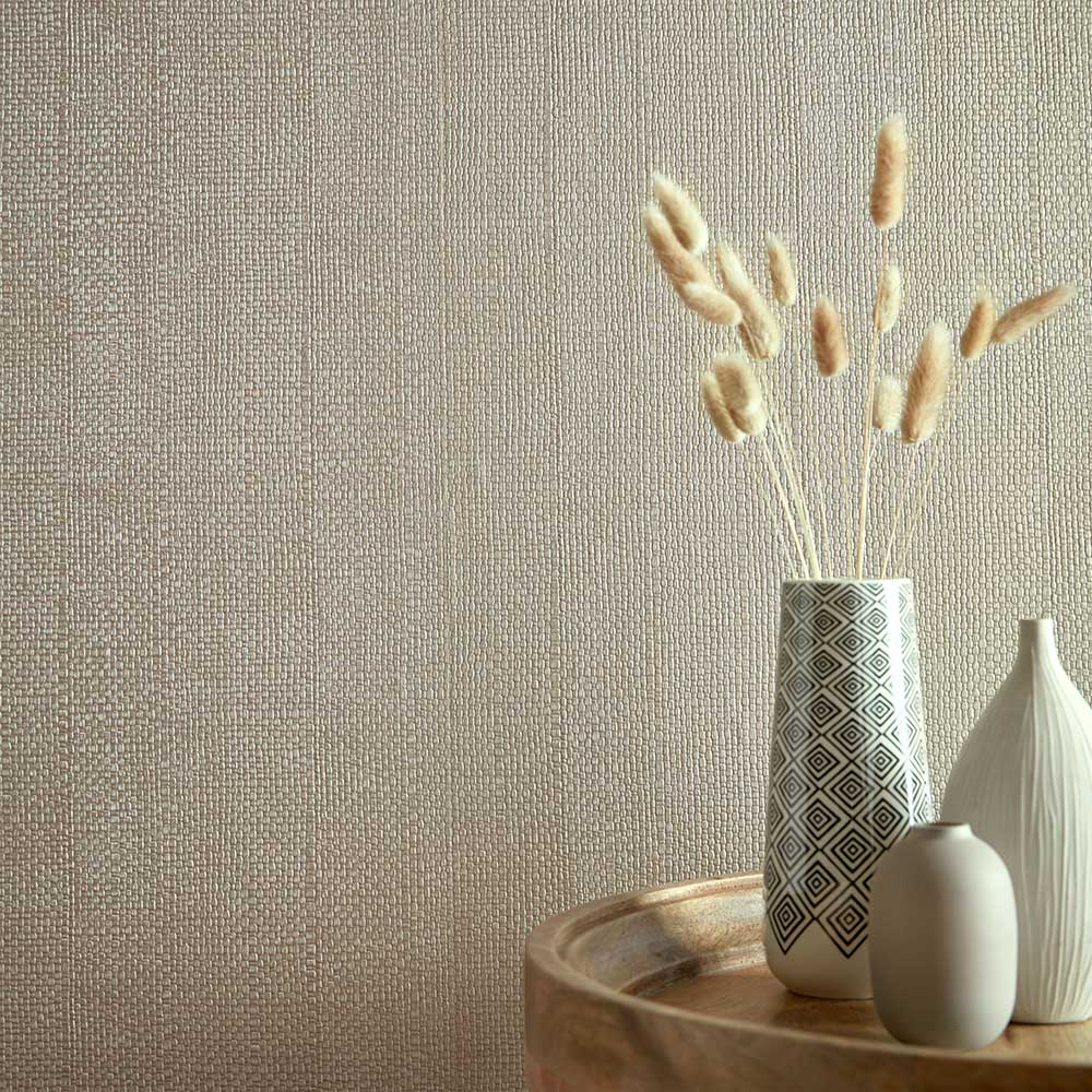 Serena Wallpaper - Barley - by 1838 Wallcoverings