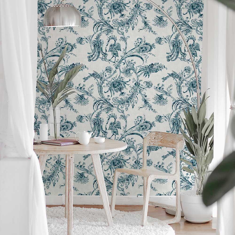 Mithology Wallpaper - Blue - by Coordonne