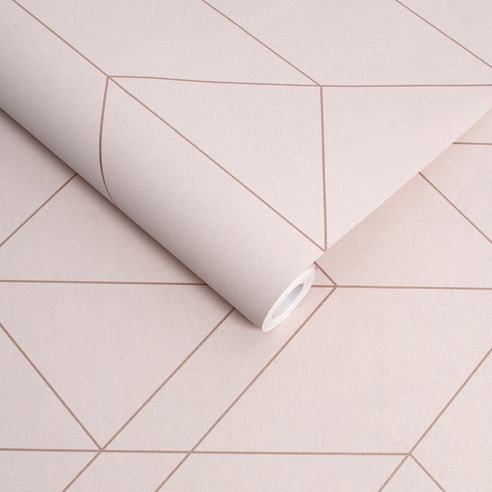 Balance Wallpaper - Blush / Rose Gold - by Graham & Brown