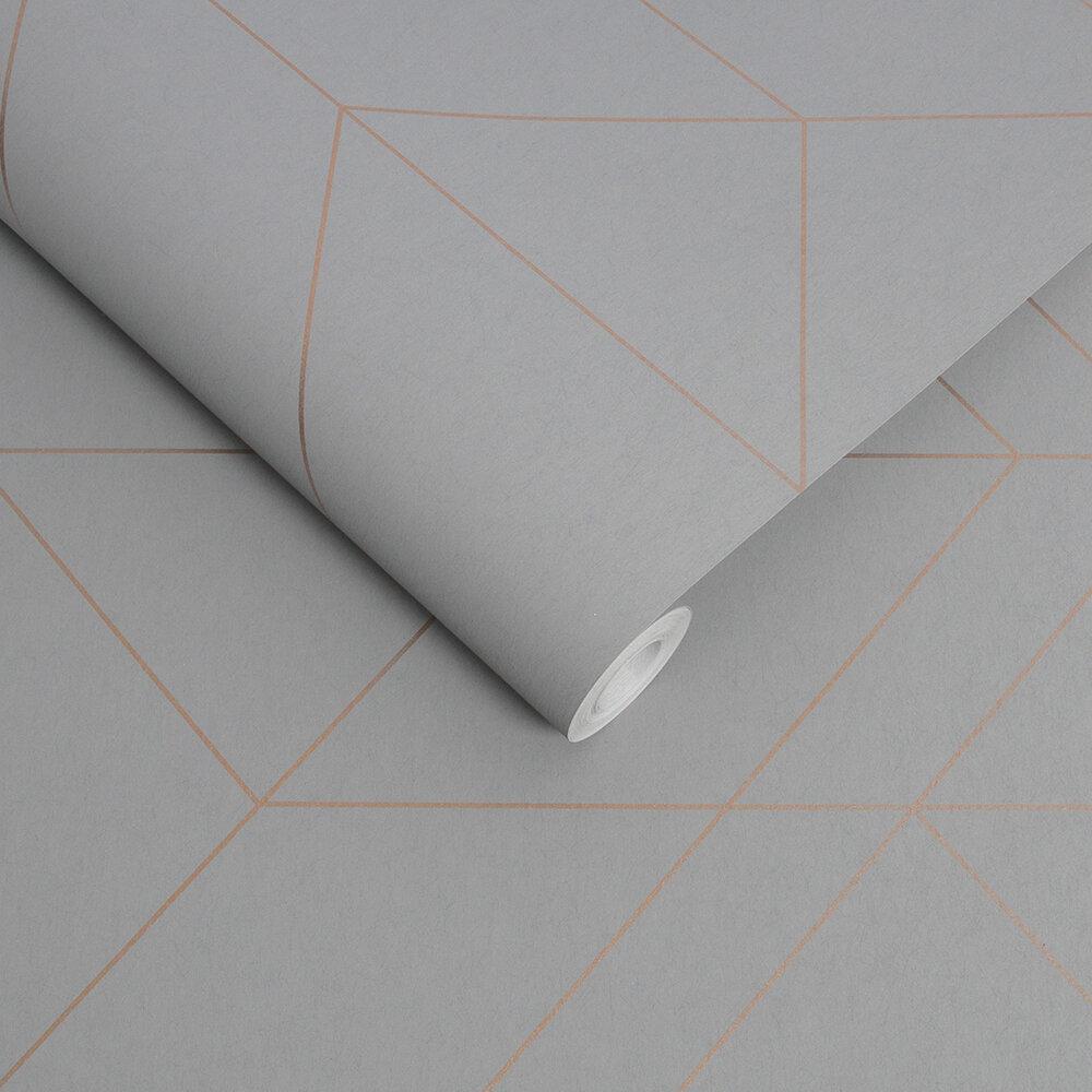 Balance Wallpaper - Grey / Rose Gold - by Graham & Brown