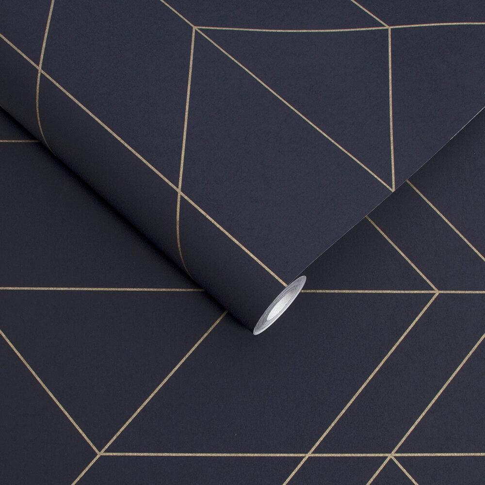 Graham & Brown Balance Navy / Gold Wallpaper - Product code: 106757