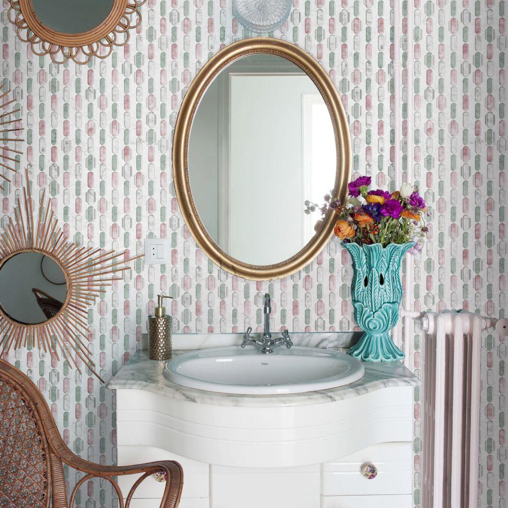 Capsule Wallpaper - Pink - by Tres Tintas
