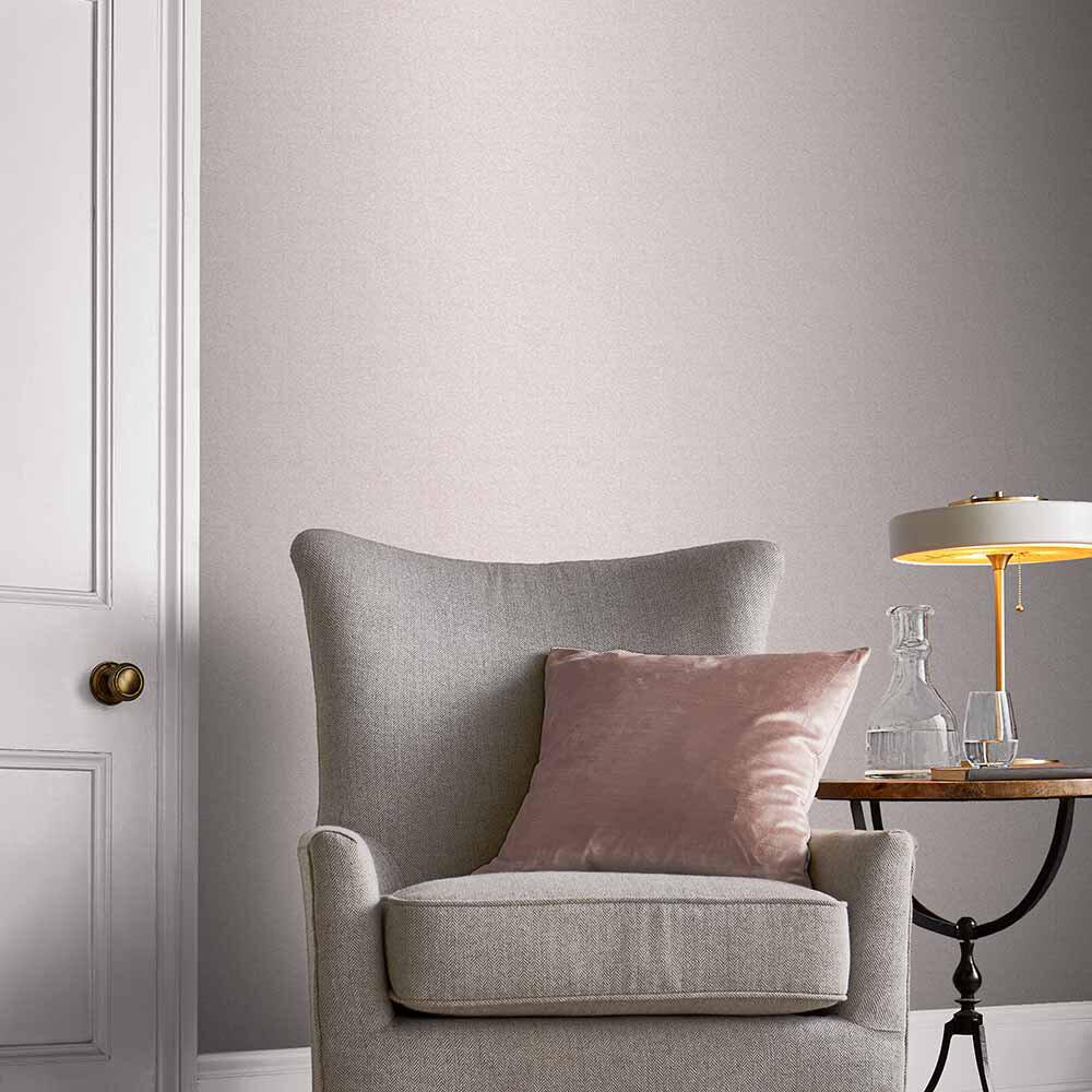 Lagom Plain Wallpaper - Rose - by Graham & Brown