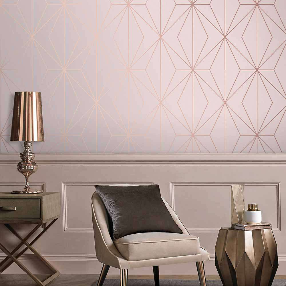 Harmony Wallpaper - Blush - by Graham & Brown