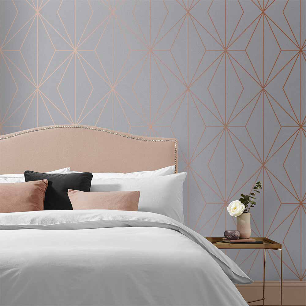 Harmony Wallpaper - Grey - by Graham & Brown