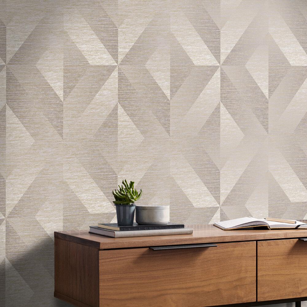 Atelier Geo Wallpaper - Stone - by Graham & Brown