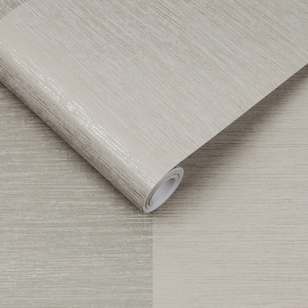 Atelier Stripe Wallpaper - Stone - by Graham & Brown