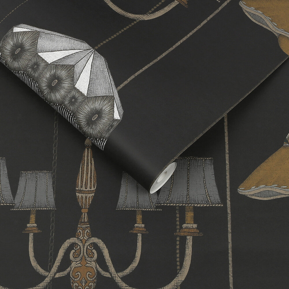 Drawing Room Wallpaper - Charcoal - by Graham & Brown