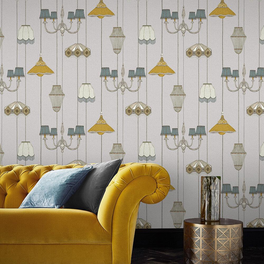 Drawing Room Wallpaper - Grey - by Graham & Brown