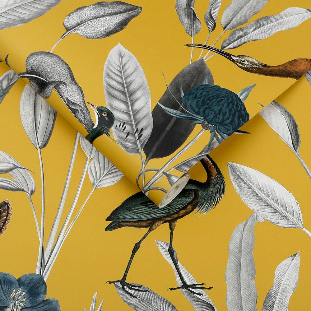 Glasshouse Wallpaper - Mustard - by Graham & Brown