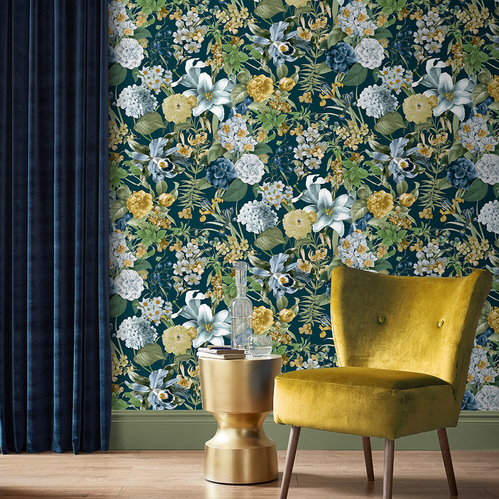 Glasshouse Floral Wallpaper - by Graham & Brown