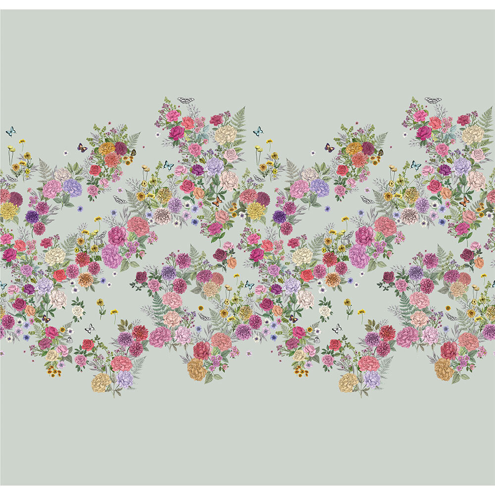 Matthew Williamson Skye's Garden Eau de Nil Mural - Product code: W7491-02