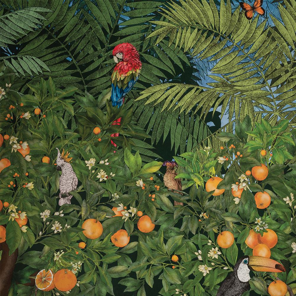 Matthew Williamson Orange Grove Multi-coloured Mural - Product code: W7493-01