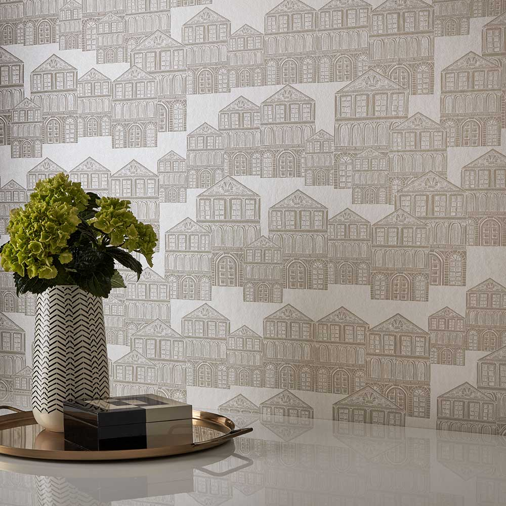 Maison Wallpaper - Ivory - by 1838 Wallcoverings