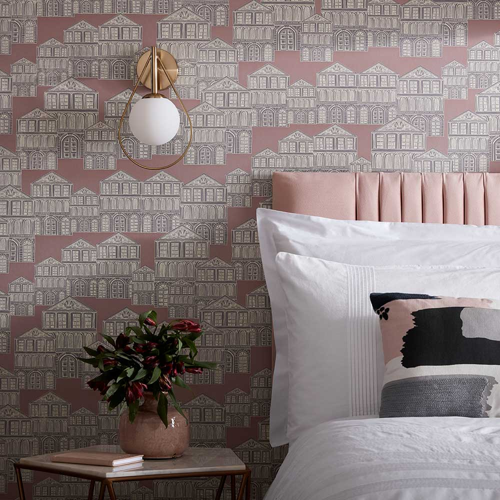 Maison Wallpaper - Rose - by 1838 Wallcoverings