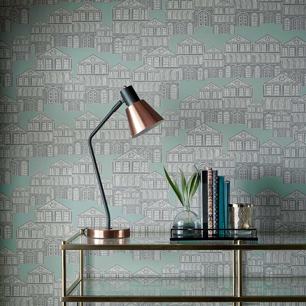 1838 Wallcoverings Maison Neo Mint Wallpaper - Product code: 1907-137-03
