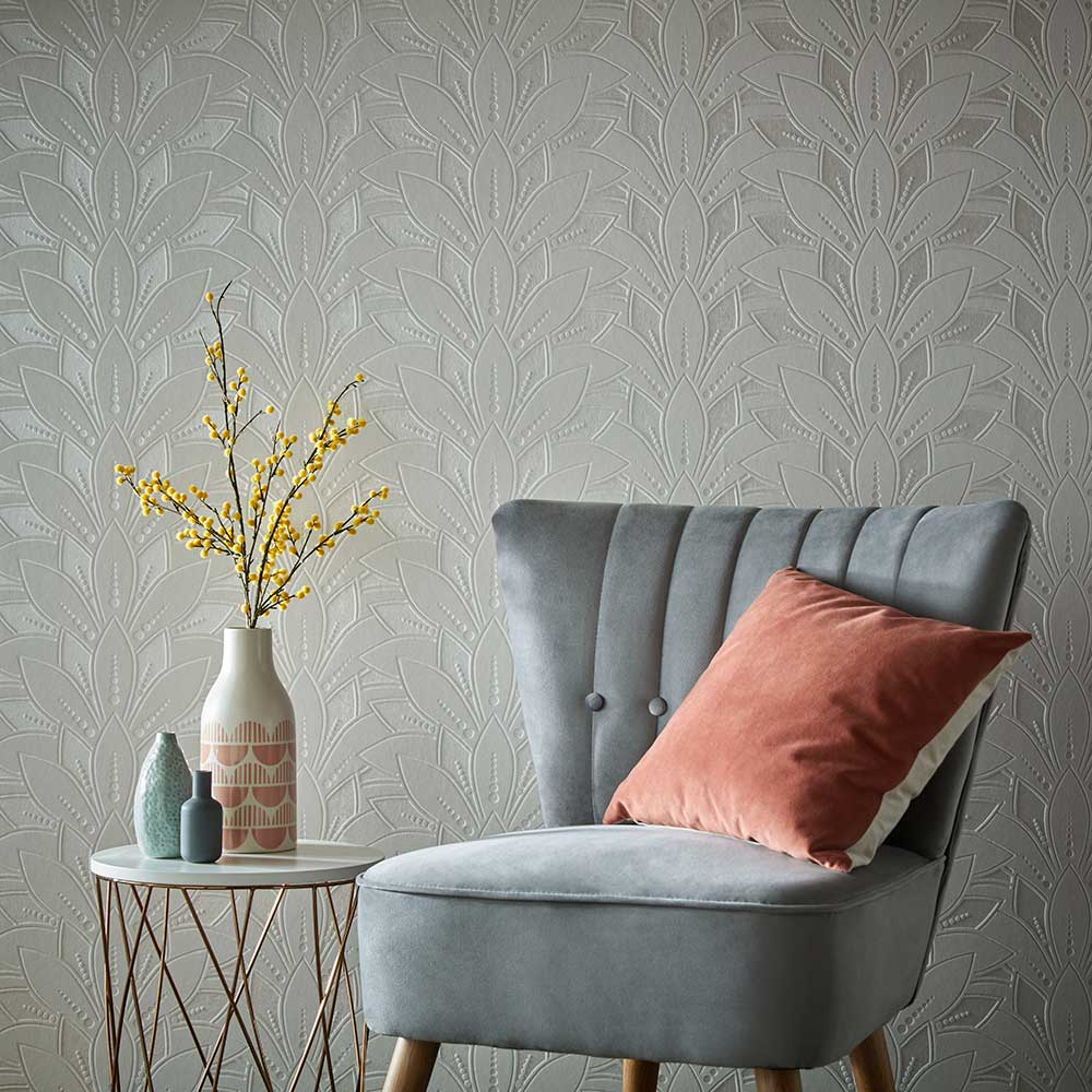 1838 Wallcoverings Astoria Ivory Wallpaper - Product code: 1907-139-02