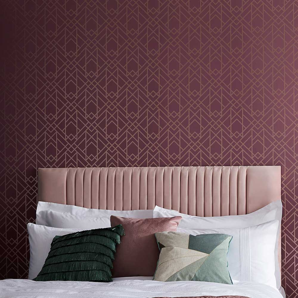 Metro Wallpaper - Cassis - by 1838 Wallcoverings