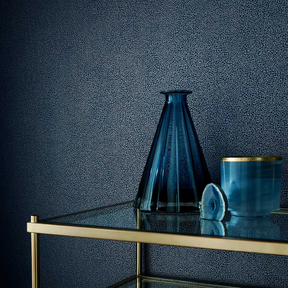 Emile Wallpaper - Midnight - by 1838 Wallcoverings
