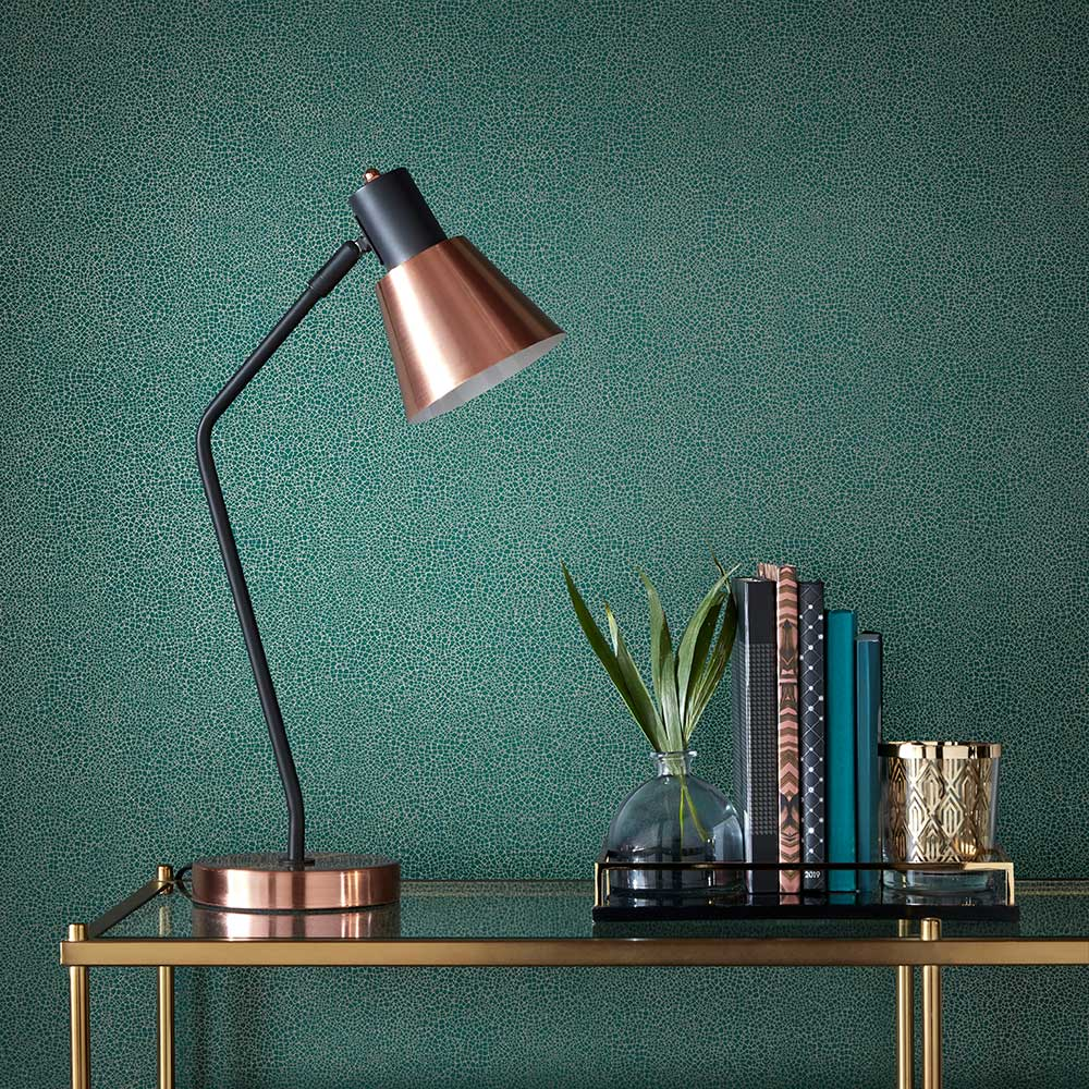 Emile Wallpaper - Emerald - by 1838 Wallcoverings