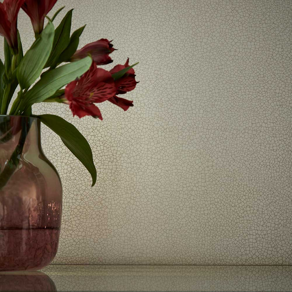 Emile Wallpaper - Sand - by 1838 Wallcoverings