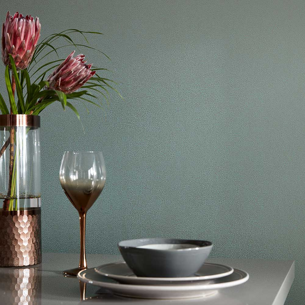 Emile Wallpaper - Neo Mint - by 1838 Wallcoverings