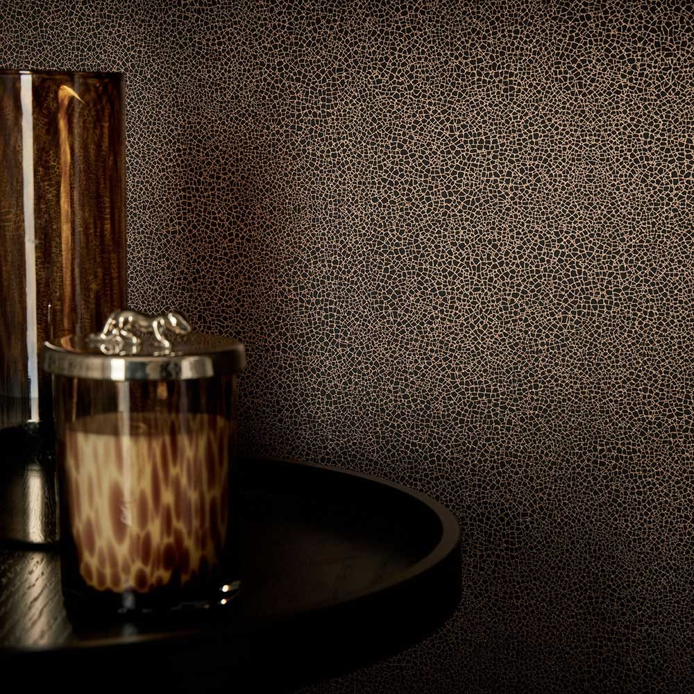 1838 Wallcoverings Emile Jet Wallpaper - Product code: 1907-141-06