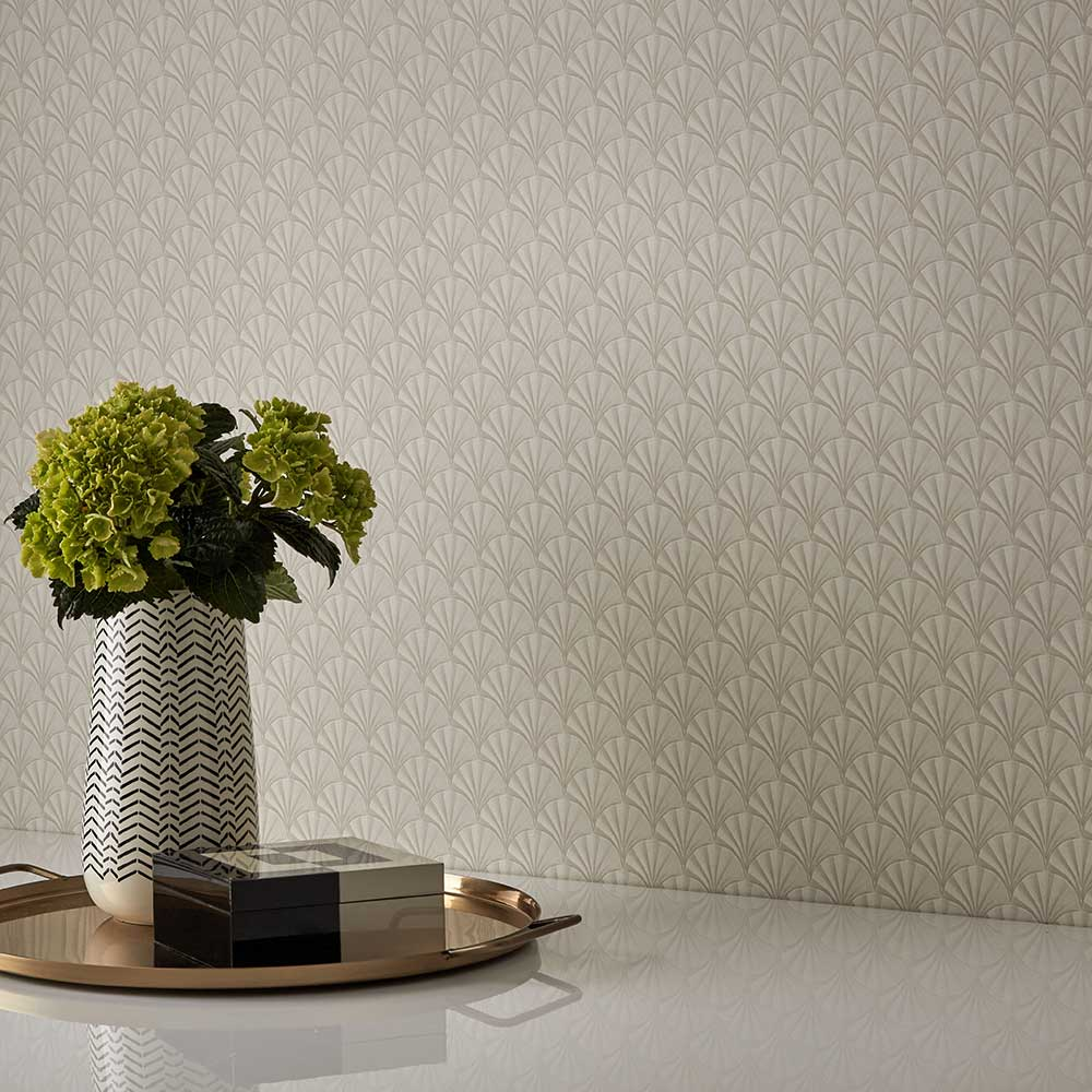 Elodie Wallpaper - Ivory - by 1838 Wallcoverings